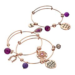 'My Grandma' Shaky Bead Bangle Bracelet Set