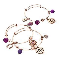 'My Grandma' Shaky Bead Bangle Bracelet Set