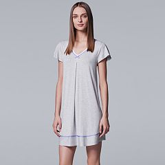 Women's  Simply Vera Vera Wang Pajamas: Short Sleeve Sleepshirt