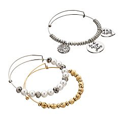 'Live The Life You Love' Bangle Bracelet Set