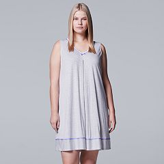 Plus Size Simply Vera Vera Wang Pajamas: Sleep Chemise