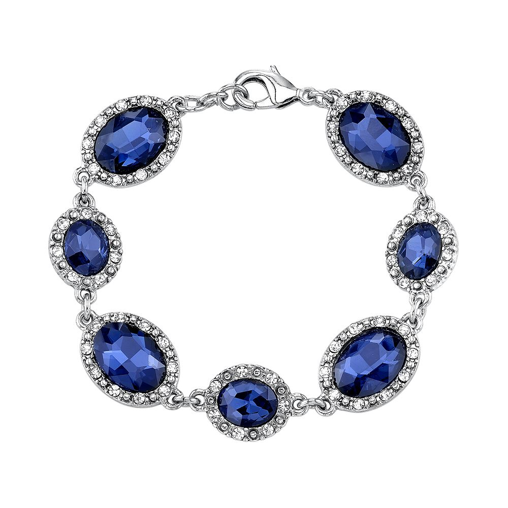 jewelry lyst brighton halo bracelet tanzanite