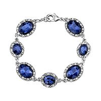 1928 Blue Oval Halo Bracelet