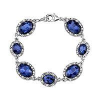 1928 Blue Oval Halo Bracelet