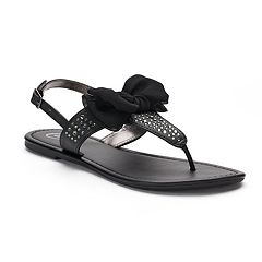 Women's Candie's® Bow T-Strap Sandals