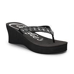 Candie's® Women's Cut-Out Bling Wedge Sandals