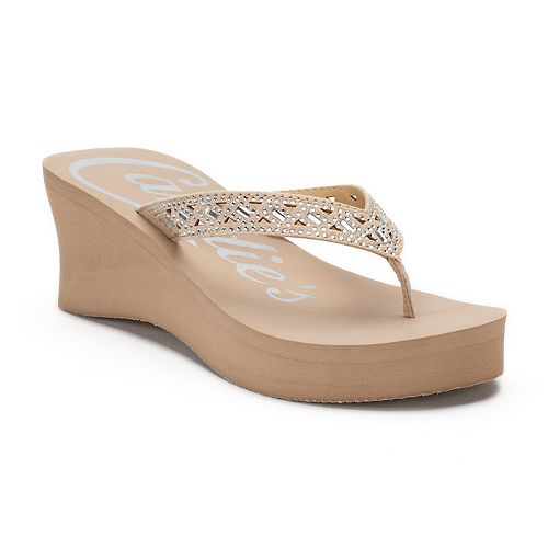 6fdd055bc Candie s® Women s Cut-Out Bling Wedge Sandals