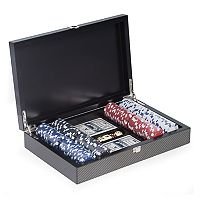 Bey-Berk Carbon-Fiber Poker Chip 200-Piece Set