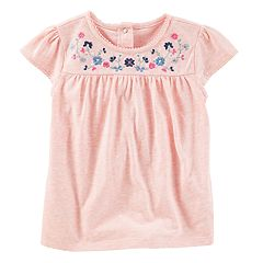 Toddler Girl OshKosh B'gosh® Embroidered Floral Top