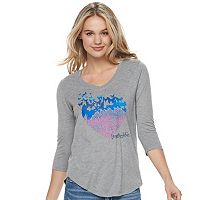 Juniors' love this life Butterfly Heart Graphic Tee