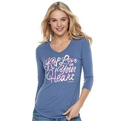 Juniors' love this life 'Keep Love in Your Heart' Graphic Tee
