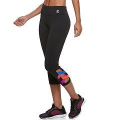 Women's FILA SPORT® Strappy Hem Capri Leggings