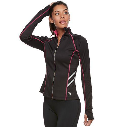56e9214b2a Women s FILA SPORT® Contrast Zipper Thumb Hole Jacket