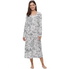 Petite Croft & Barrow® Pajamas: Pintuck Long Sleeve Nightgown
