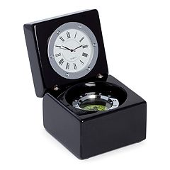 Bey-Berk Desk Clock and Compass