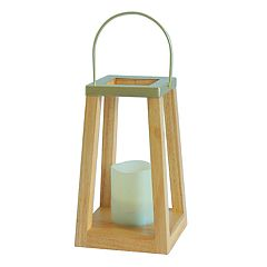 SONOMA Goods for Life™ Large Solar Powered Rustic Lantern Indoor / Outdoor Table Decor