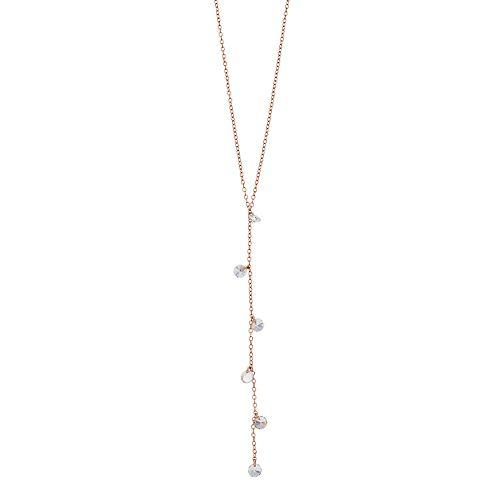 Sterling Silver Cubic Zirconia Shaky Y Necklace