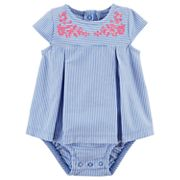 Baby Girl Carter's Embroidered Sunsuit