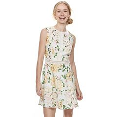 Disney Princess Juniors' Floral Illusion Skater Dress