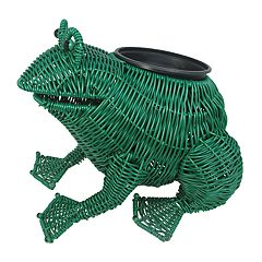 Celebrate Together Plastic Wicker Indoor / Outdoor Frog Planter