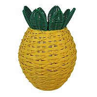 Celebrate Together Plastic Wicker Indoor / Outdoor Pineapple Planter