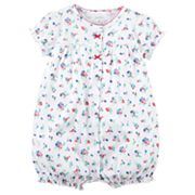 Baby Girl Carter's Tiny Flower Snap-Up Romper