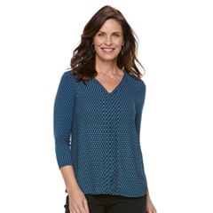 Women's Dana Buchman Hi-Lo V-Neck Top