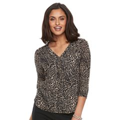 Women's Dana Buchman Hi-Lo V-Neck Top