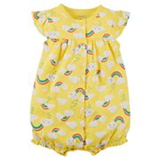 Baby Girl Carter's Rainbow & Clouds Snap-Up Romper