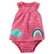 Baby Girl Carter's Striped Sunsuit