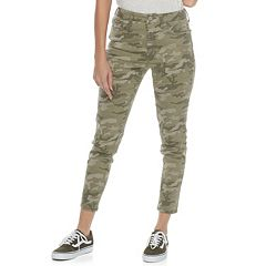 Juniors' SO® Camo Ankle Jeggings
