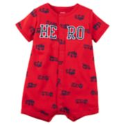 "Baby Boy Carter's Fire Truck ""Hero"" Snap-Up Romper"