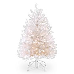 National Tree Company 4.5-ft. Pre-Lit Dunhill White Fir Artificial Christmas Tree