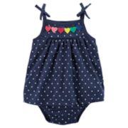 Baby Girl Carter's Rainbow Heart Polka-Dot Dress