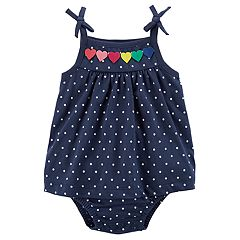 Baby Girl Carter's Rainbow Heart Polka-Dot Dress