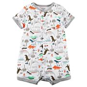 Baby Boy Carter's Dino Print Snap-Up Romper