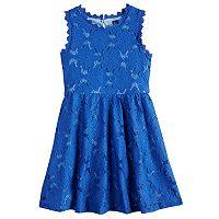 Girls 7-16 My Michelle Crochet Lace Skater Dress