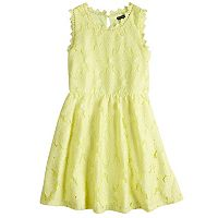 Girls 7-16 My Michelle Crochet Lace Skater Dress