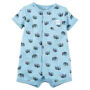 Baby Boy Carter's Elephant Print Snap-Up Romper