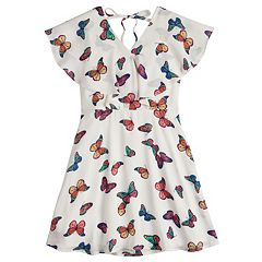 Girls 7-16 My Michelle Butterfly Skater Dress