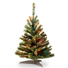 National Tree Company 3-ft. Multicolored Pre-Lit Kincaid Spruce Artificial Christmas Tree