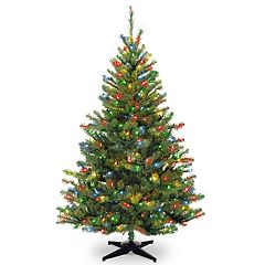 National Tree Company 6-ft. Multicolored Pre-Lit Kincaid Spruce Artificial Christmas Tree