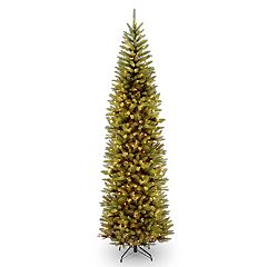 national tree company 9 ft pre lit kingswood fir pencil artificial christmas tree