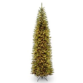 national tree company 9 ft pre lit kingswood fir pencil artificial christmas tree