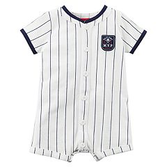 Baby Boy Carter's Striped 'Half Pint M.V.P' Romper