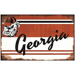Georgia Bulldogs Heritage Wall Sign