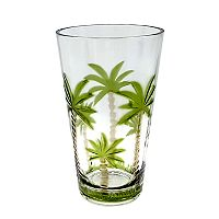 Celebrate Summer Together Acrylic Palm Tree Highball Glass
