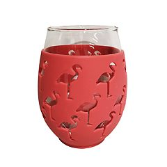Celebrate Summer Together 2-pc. Flamingo Stemless Wine Glass Set