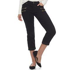 Women's Jennifer Lopez Zipper Accent Capri Pants