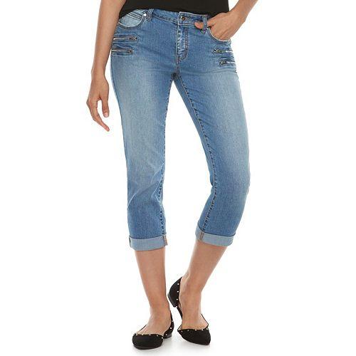 d1fde58f2cf Women s Jennifer Lopez Zipper Accent Capri Pants